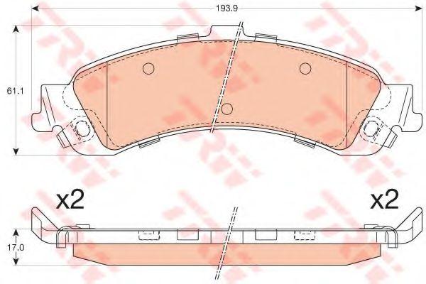 Комплект тормозных колодок, дисковый тормоз  арт. GDB4454