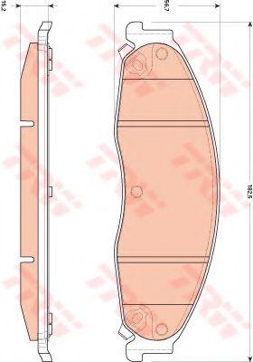 Комплект тормозных колодок, дисковый тормоз  арт. GDB4601