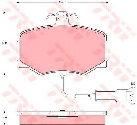 Комплект тормозных колодок, дисковый тормоз  арт. GDB461