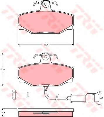 Комплект тормозных колодок, дисковый тормоз  арт. GDB462