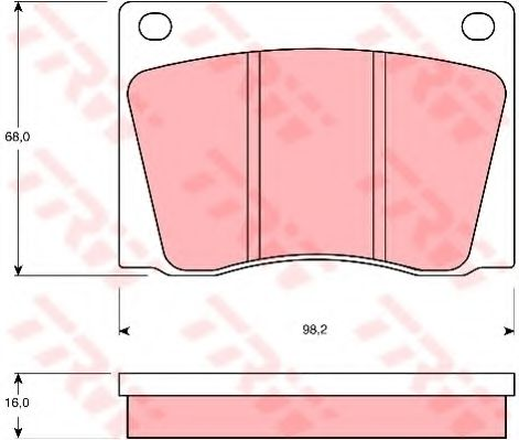 Комплект тормозных колодок, дисковый тормоз  арт. GDB531