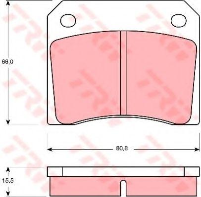 Комплект тормозных колодок, дисковый тормоз  арт. GDB557