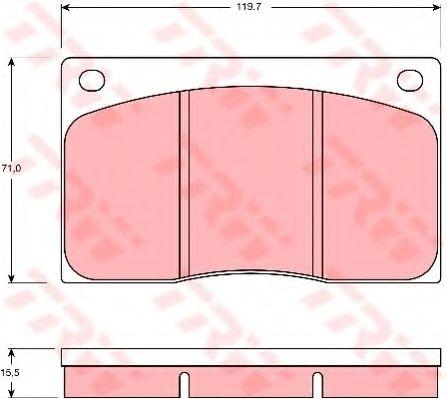 Комплект тормозных колодок, дисковый тормоз  арт. GDB585