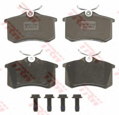 Колодка торм. AUDI A4, A6, VW GOLF IV задн. (пр-во TRW)                                              TRW арт. GDB823