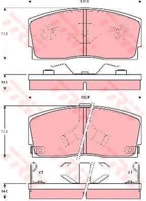 Гальмівні колодки, дискові  арт. GDB886