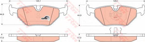 GDB917  TRW - Гальмівні колодки до дисків  арт. GDB917