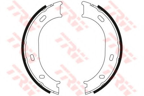Гальмівні колодки, барабанні TRW GS8433