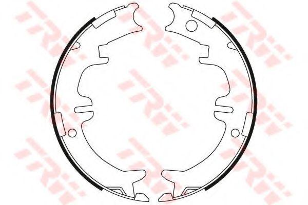 Гальмівні колодки, барабанні TRW GS8446