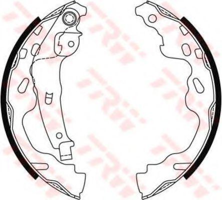 Гальмівні колодки, барабанні TRW GS8480
