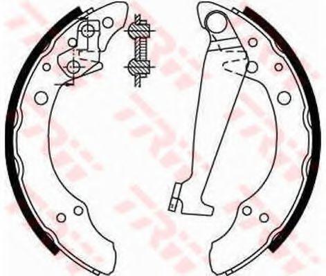 Гальмівні колодки, барабанні TRW GS8526