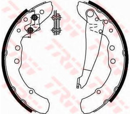 Колодка торм. барабан. AUDI 100,VW PASSAT, задн. (пр-во TRW)                                         JURID арт. GS8544