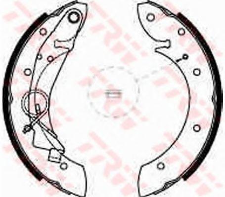 Гальмівні колодки, барабанні TRW GS8635