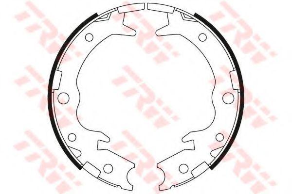 GS8697  TRW - Гальмівні колодки до барабанів  арт. GS8697
