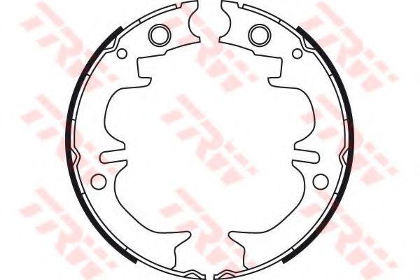 Гальмівні колодки барабанні задні Toyota Camry/Avensis 2.2, 3.0 01- Lexus RX (XU1) 300 V6 00-03 TRW GS8714