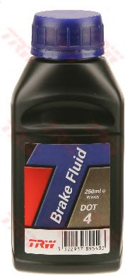 Тормозные жидкости Тормозная жидкость TRW BRAKE FLUID DOT 4 (0,25л.)  арт. PFB425