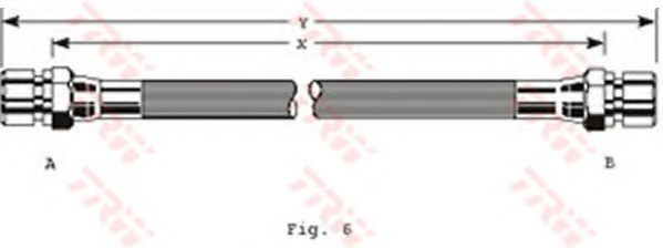 Шланг тормозной DAEWOO, OPEL, SAAB, задн. (пр-во TRW)                                                 арт. PHA229
