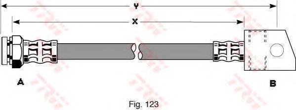Тормозной шланг  арт. PHA300