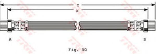 PHA358  TRW - Гальмівний шланг  арт. PHA358