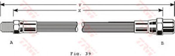 PHB125  TRW - Гальмівний шланг  арт. PHB125