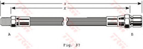 Шланг тормозной ВАЗ 2101-09, 2121, 2110 1.5, 1.5 16V (пр-во TRW)                                      арт. PHB152