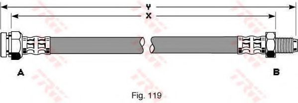 Гальмівний шланг  арт. PHB299
