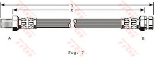 Тормозной шланг  арт. PHB315
