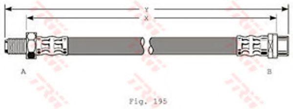 PHB353  TRW - Гальмівний шланг  арт. PHB353