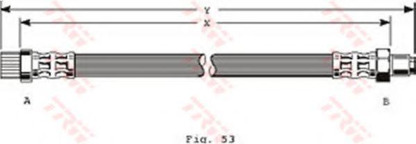 Шланг тормозной CITROEN, PEUGEOT передн. (пр-во TRW)                                                  арт. PHB372