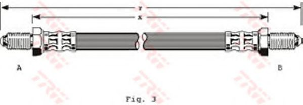Тормозной шланг  арт. PHC134