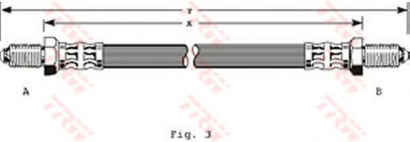 Тормозной шланг  арт. PHC201
