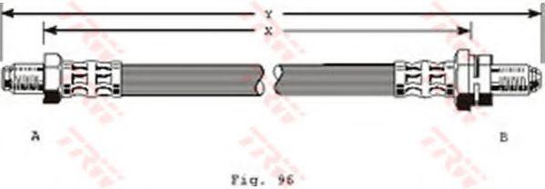 Шланг тормозной FORD передн. (пр-во TRW)                                                              арт. PHC204