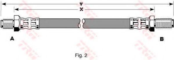 Тормозной шланг  арт. PHC255
