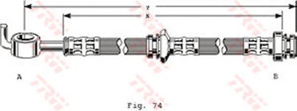 Тормозной шланг  арт. PHD163