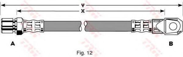 Шланг тормозной ВАЗ ВАЗ (пр-во TRW)                                                                   арт. PHD281