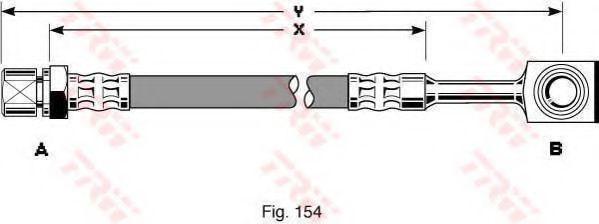 Шланг тормозной DAEWOO LANOS передн. (пр-во TRW)                                                      арт. PHD288