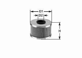 Фильтр топливный Combo 1.7 DI/CDTI 01>/ Astra G/H/ Vectra B/C (71x19.5x93) CLEANFILTERS MG1600