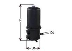 Фильтр топливный Amarok 2.0TDI 10- CLEANFILTERS MGC1698