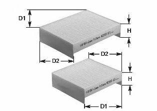 Фильтр салона к-кт 2шт.AUDI A6 II (4F) 04- CLEANFILTERS NC2192