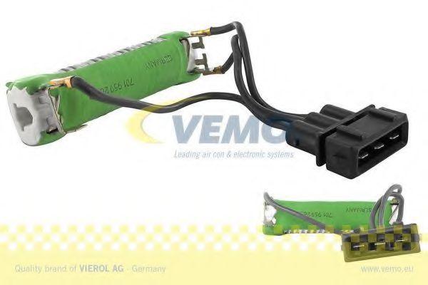 Резистор вентилятора радіатора VW Transporter IV 2.4D, 2.5 TDI 90-/Seat Alhambra 1.9 TDI 96-  VEMO V10790011