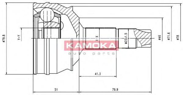 ШРУС Шарнирный комплект, приводной вал KAMOKA арт. 6632