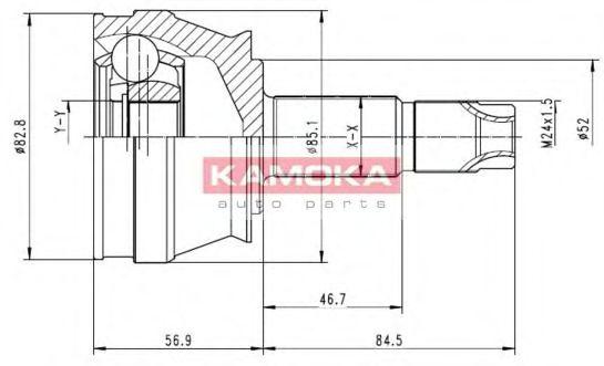 ШРУС Шарнирный комплект, приводной вал KAMOKA арт. 6684