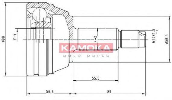 ШРУС ШРУС наружный (комплект) Ford Escort 1.8/D-2.0 91-95 KAMOKA арт. 6710