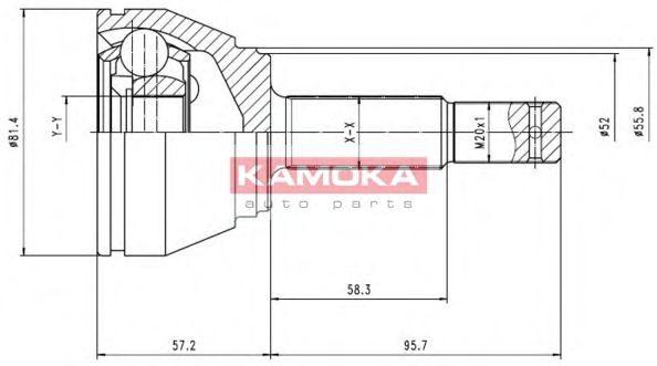 ШРУС ШРУС наружн. 22/30/52мм Opel Astra F 93'-96' (TYLKO 1.6) KAMOKA арт. 6804