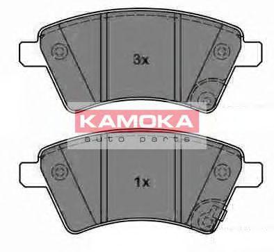 Комплект тормозных колодок, дисковый тормоз  арт. JQ1013750