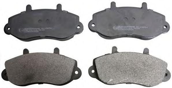(R15)Гальмівні колодки дискові перед. Opel/Renault Movano/Master T28/Master T33/Master T35/Master DENCKERMANN B110654