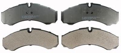 Гальмівні колодки диск. передн. Iveco Daily II 90-99, III 99-06 DENCKERMANN B110911