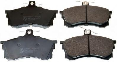 Гальмівні колодки диск. передні Mitsubishi Carisma 1.6-1.9TD 95-06  DENCKERMANN B111093