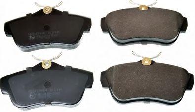 Гальмівні колодки дискові зад. Fiat Scudo 1.6,2.0 07-/Citroen Jumpy 1.6, 2.0 07- DENCKERMANN B111145