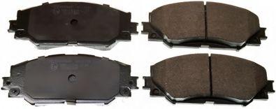 Гальмiвнi колодки дискові перед. Toyota Auris 1.4D-4D 03/07- DENCKERMANN B111189