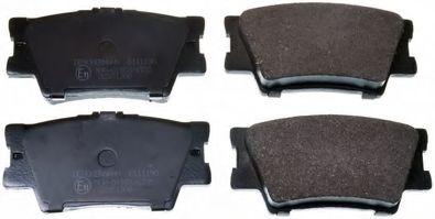 Гальмівні колодки дискові зад. Toyota Rav 4 III 2.0 VVT-i, 2.2 D-4D, 2.2 06- DENCKERMANN B111190